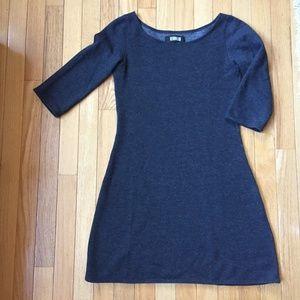 Reformation Grey  Sweatshirt Dress 3/4 Sleeve XS